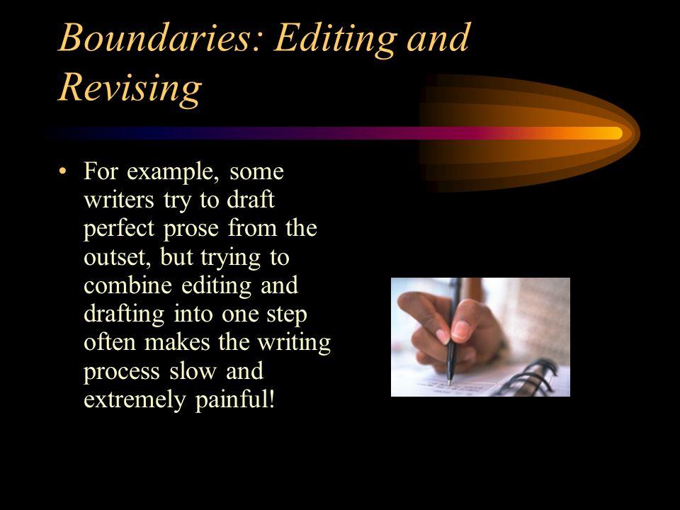 Boundaries: Editing and Revising
