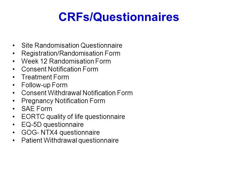 CRFs/Questionnaires Site Randomisation Questionnaire