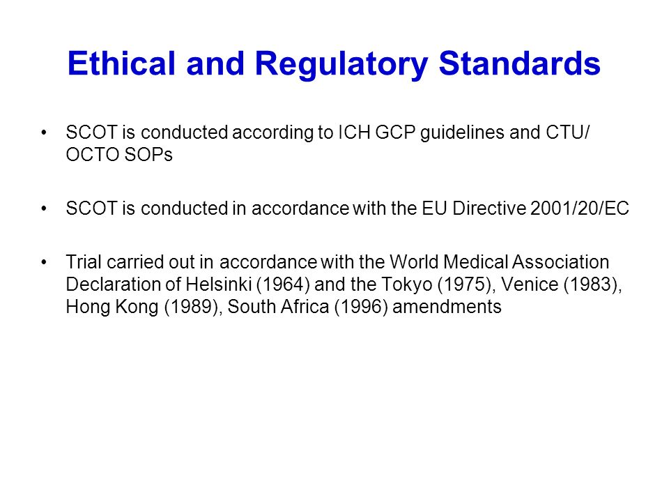 Ethical and Regulatory Standards