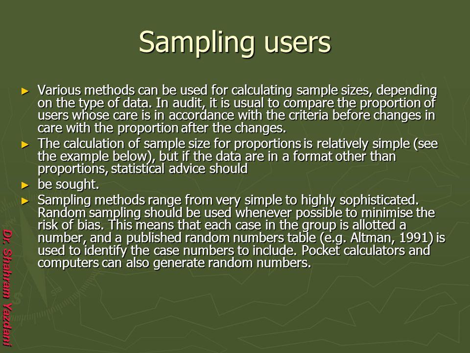 Sampling users