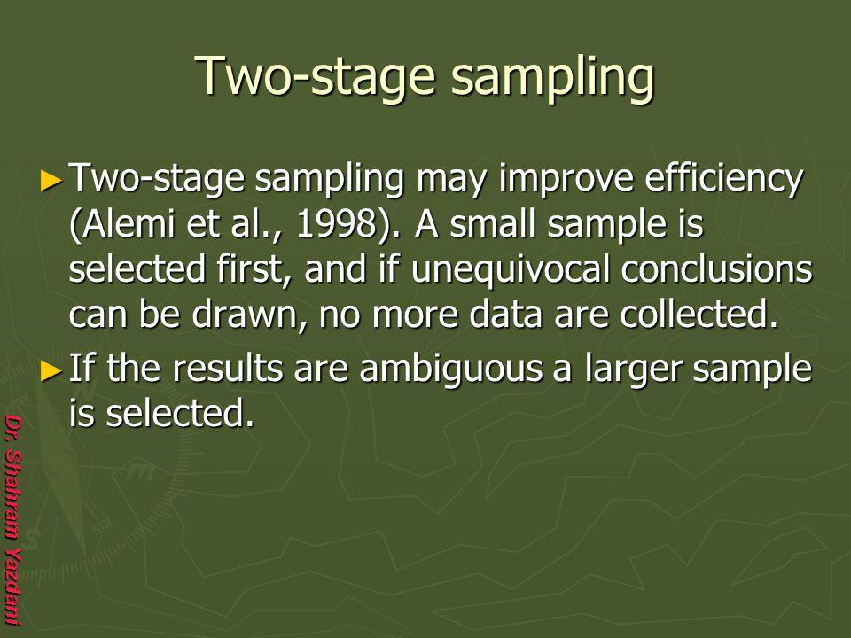 Two-stage sampling