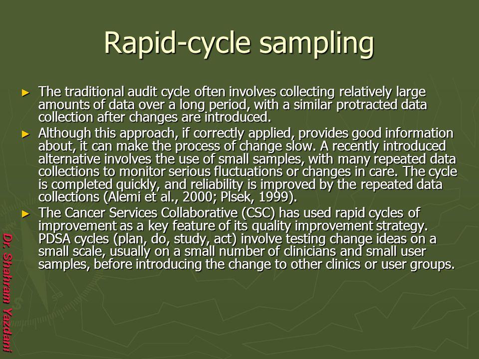 Rapid-cycle sampling