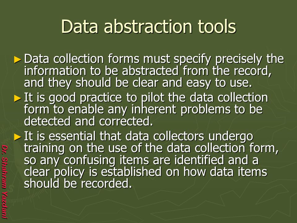 Data abstraction tools