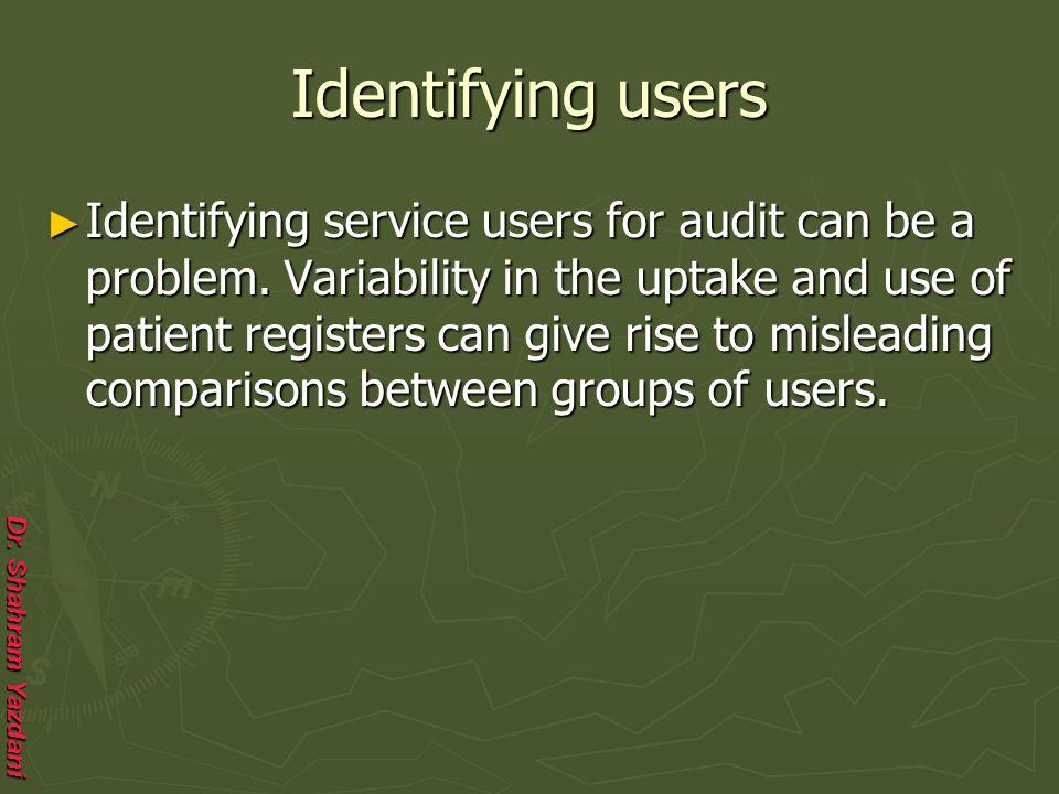 Identifying users