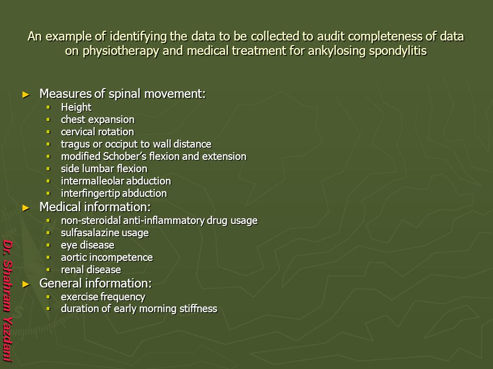 Measures of spinal movement: