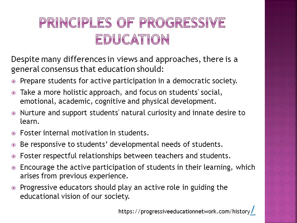 Principles of progressive education