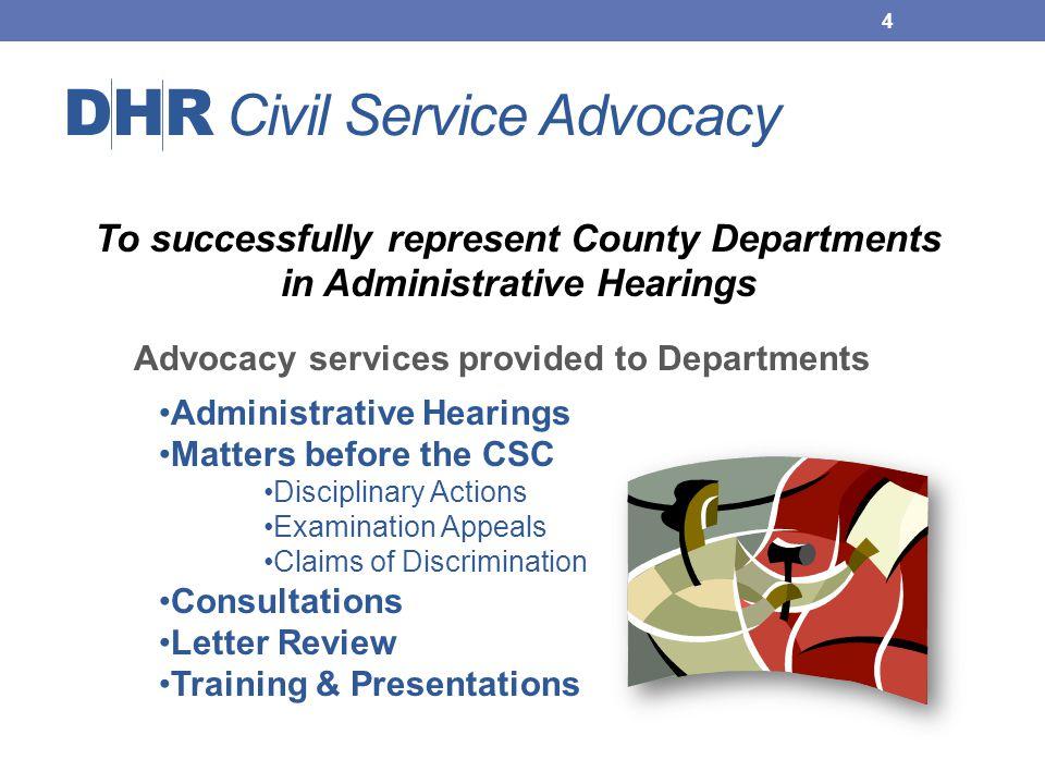DHR Civil Service Advocacy
