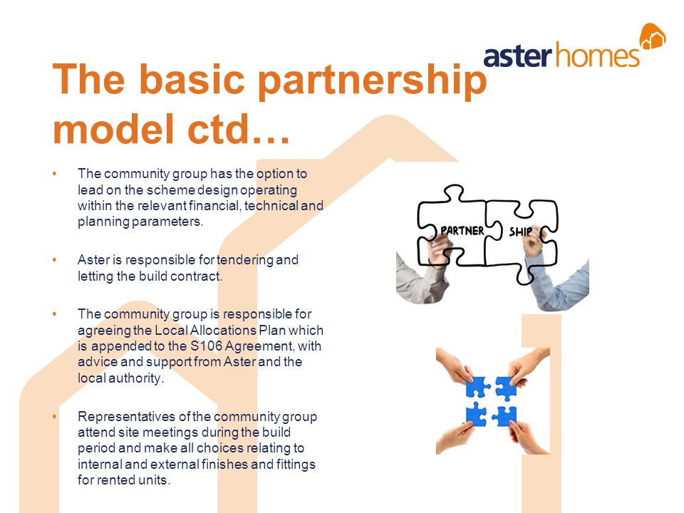 The basic partnership model ctd…