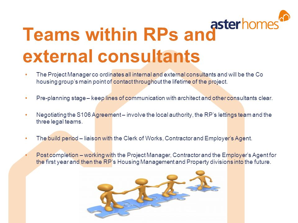 Teams within RPs and external consultants