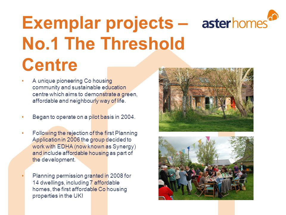 Exemplar projects – No.1 The Threshold Centre