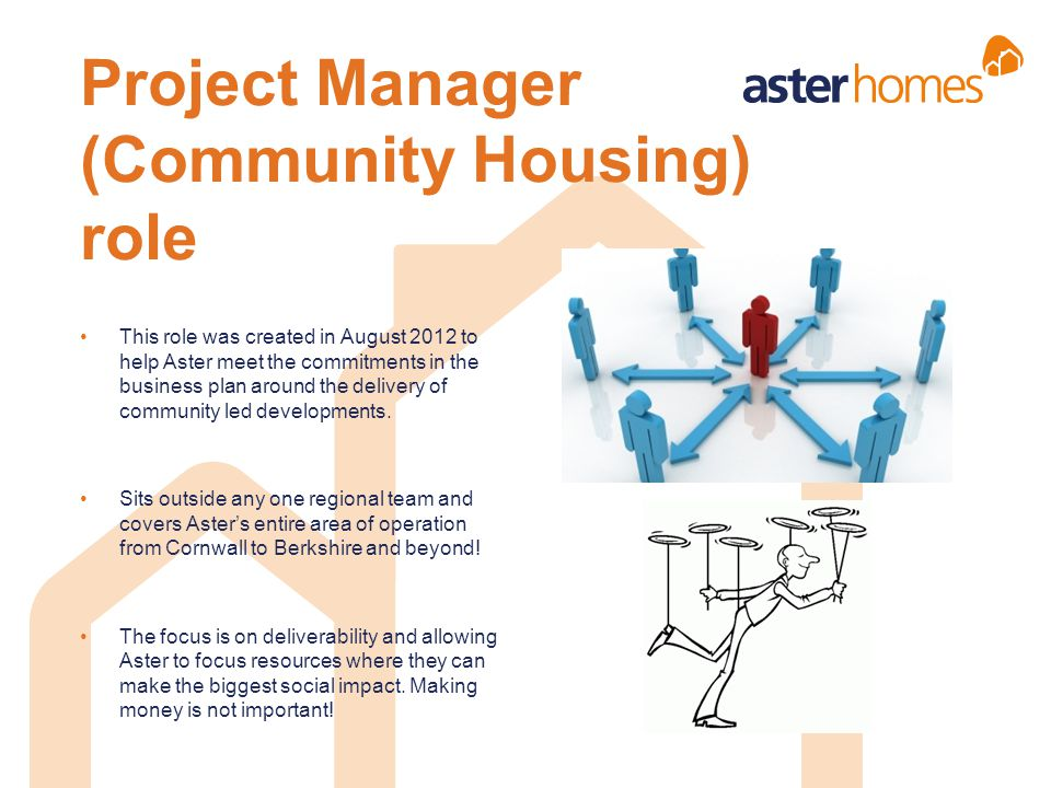 Project Manager (Community Housing) role