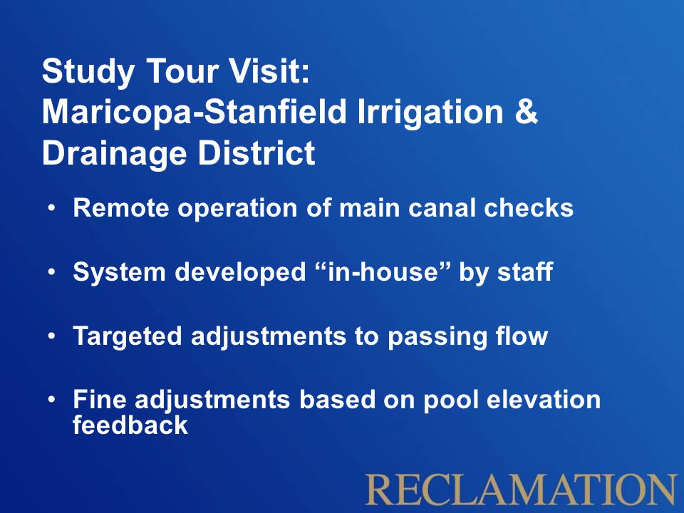 Maricopa-Stanfield Irrigation & Drainage District