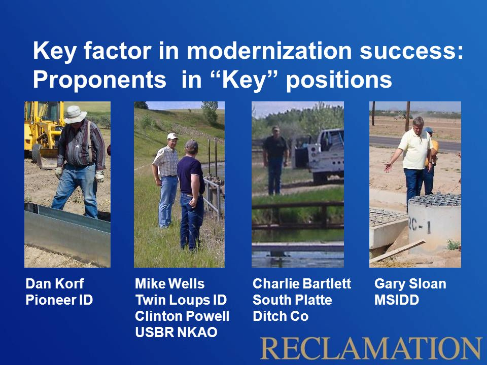 Key factor in modernization success: Proponents in Key positions