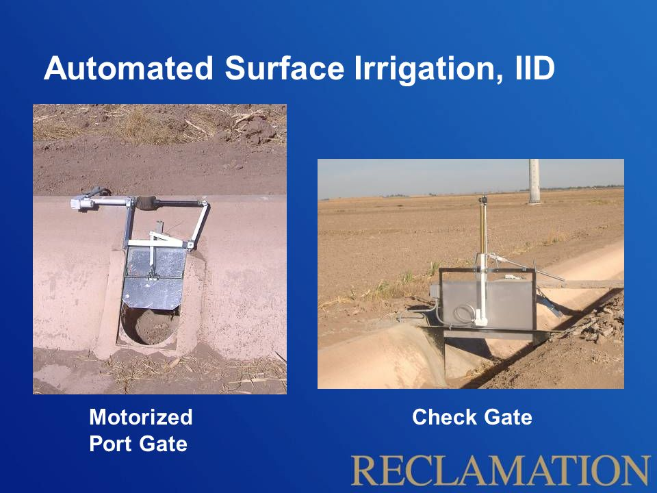 Automated Surface Irrigation, IID