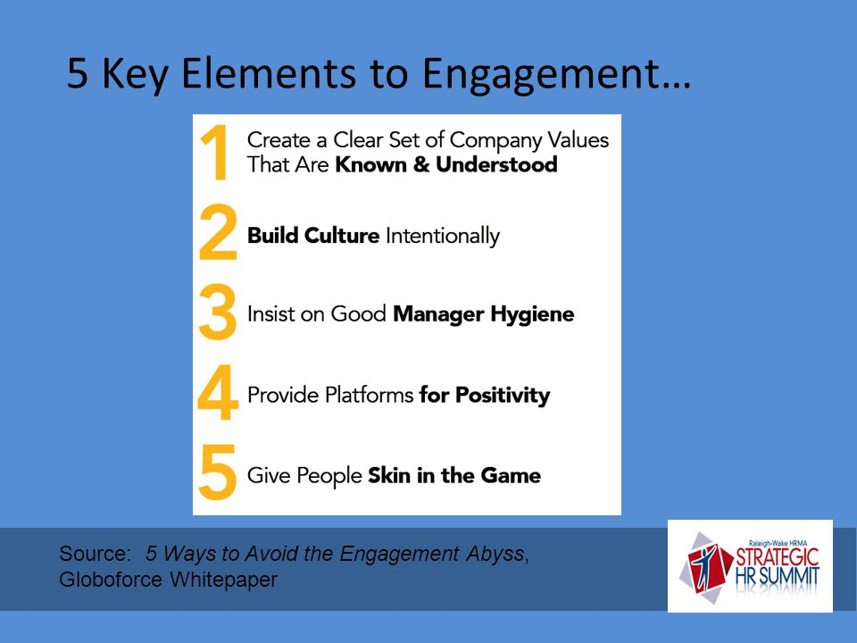 5 Key Elements to Engagement…