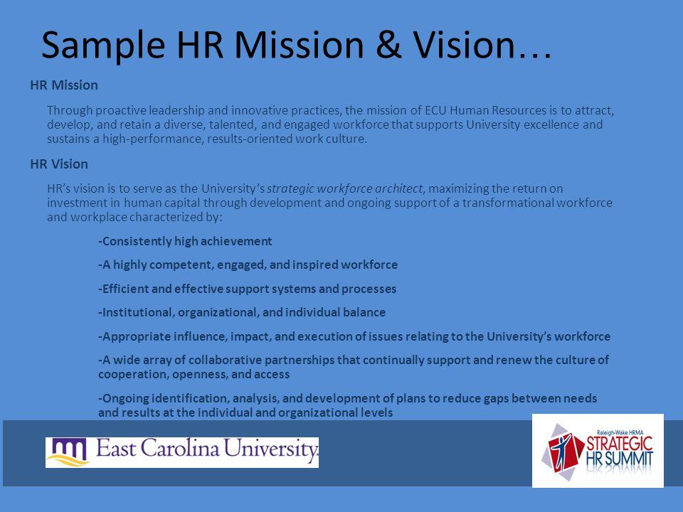 Sample HR Mission & Vision…