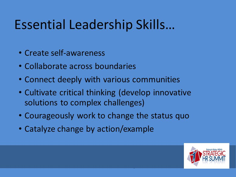 Essential Leadership Skills…