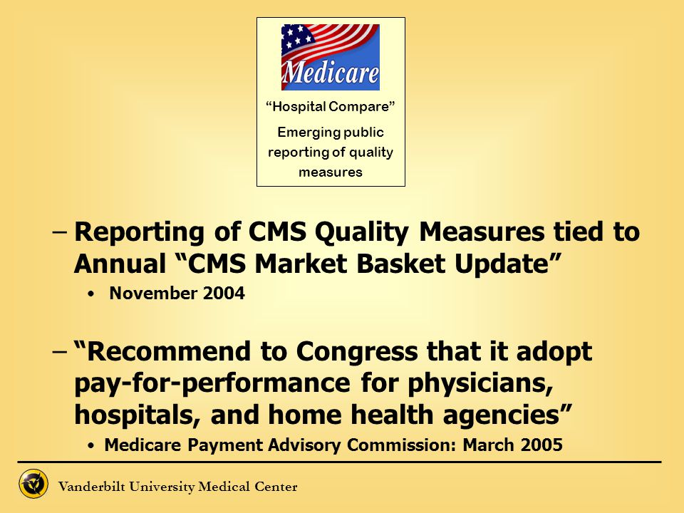 Emerging public reporting of quality measures