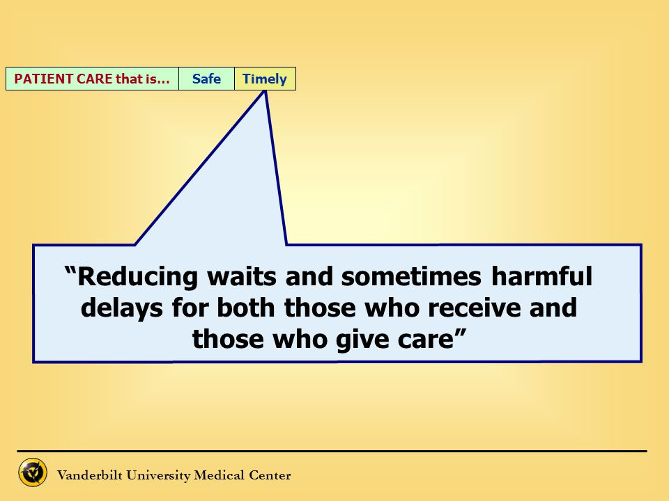 PATIENT CARE that is… Timely. Safe.