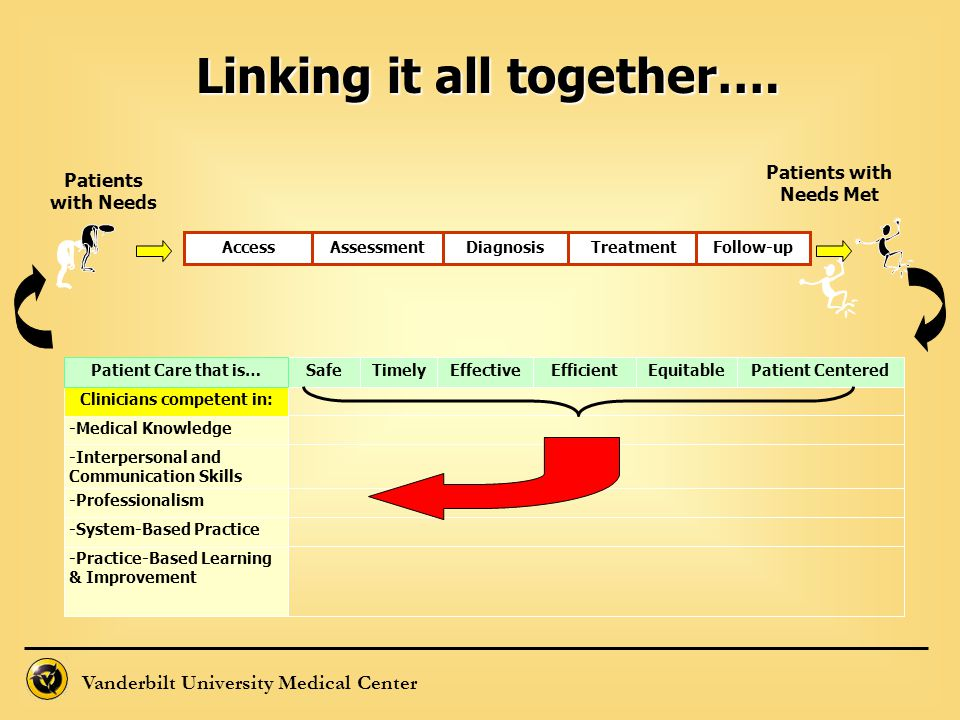 Linking it all together…. Patients with Needs Met