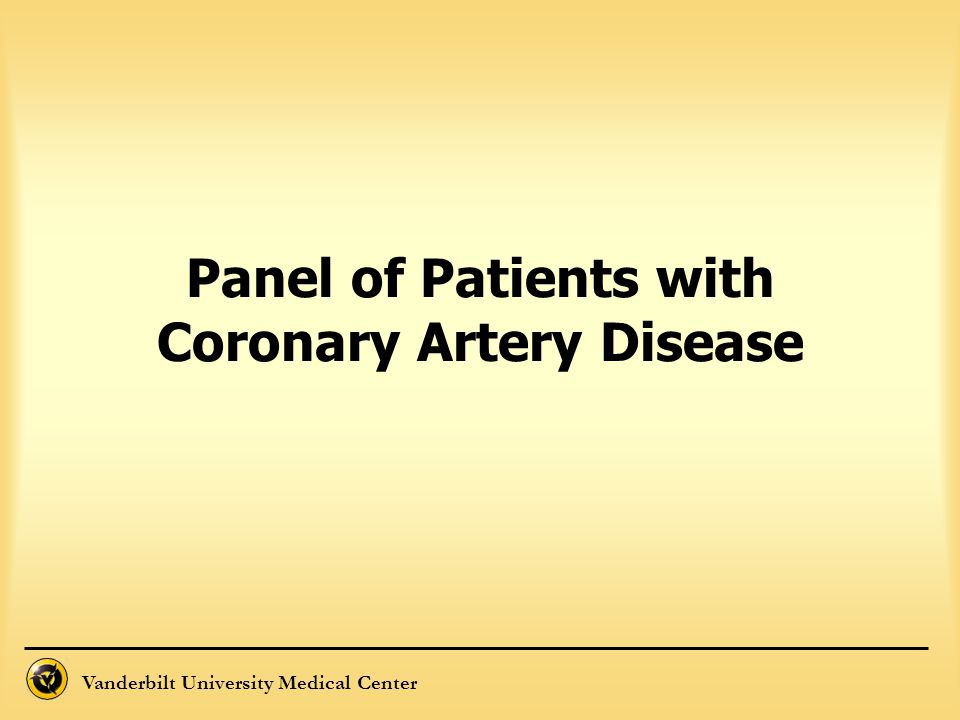 Panel of Patients with Coronary Artery Disease