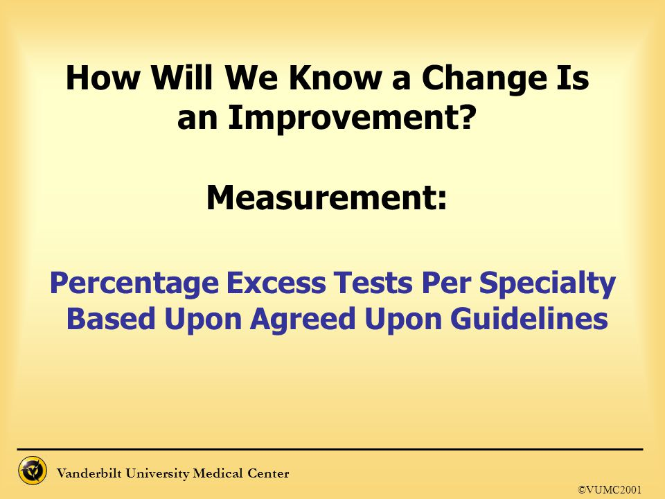 How Will We Know a Change Is an Improvement Measurement: