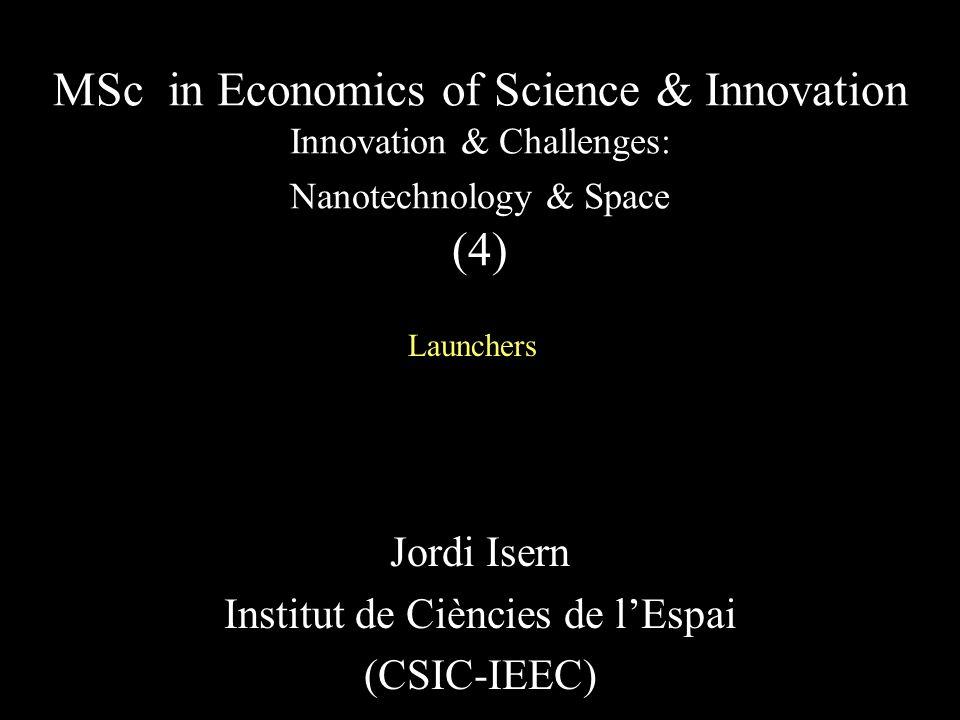 Jordi Isern Institut de Ciències de l'Espai (CSIC-IEEC)