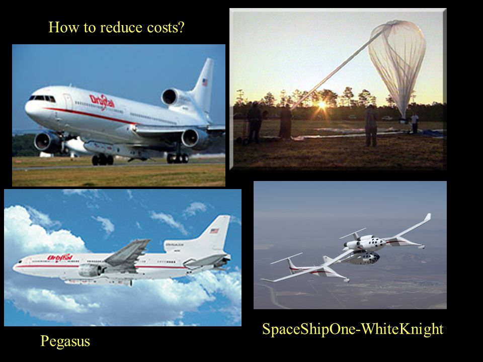 How to reduce costs SpaceShipOne-WhiteKnight Pegasus