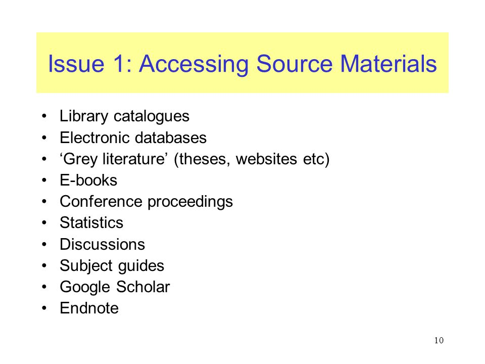 Issue 1: Accessing Source Materials