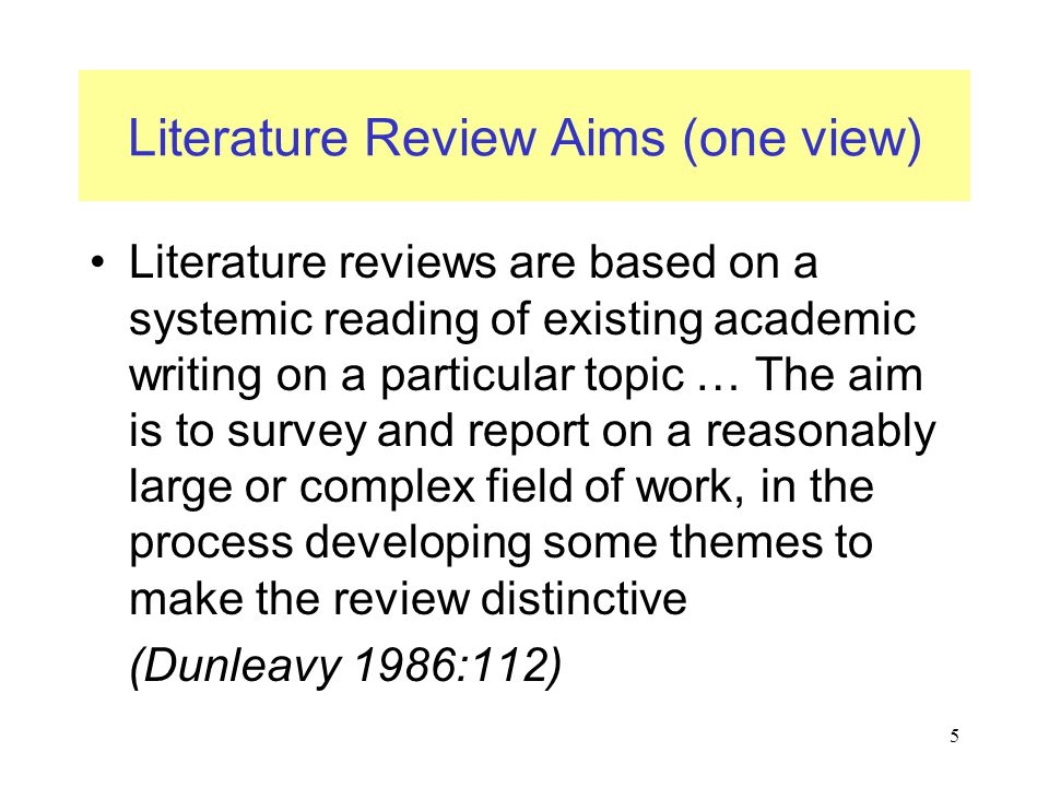 Critical review of literature dissertation proposal