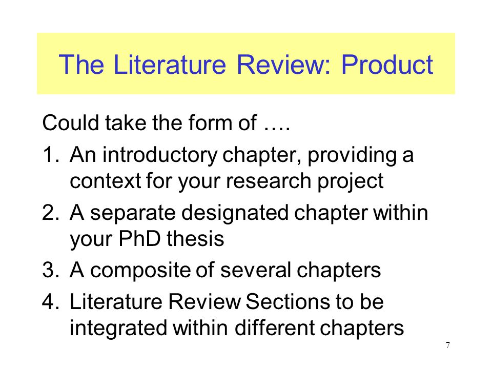 phd thesis on literature How not to write a phd thesis in this guide dissent and debate into a literature review and end up applying these complex ideas to beyoncé's video for.