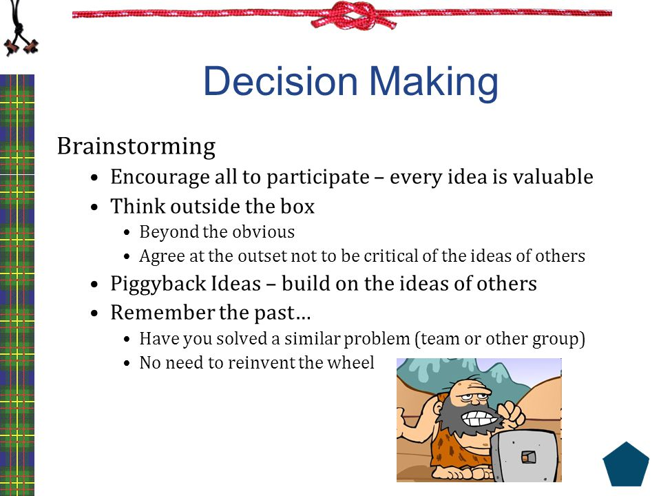 Decision Making Brainstorming