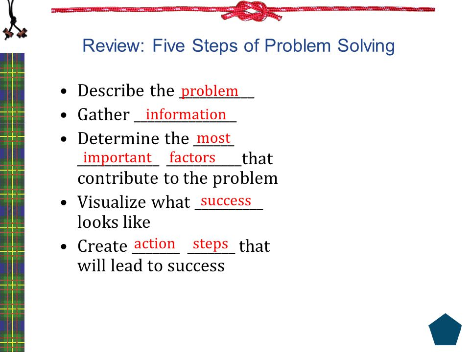 Review: Five Steps of Problem Solving
