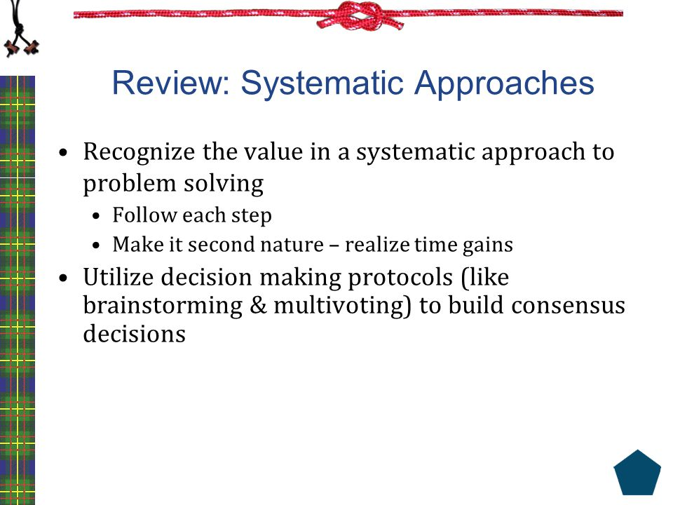 Review: Systematic Approaches