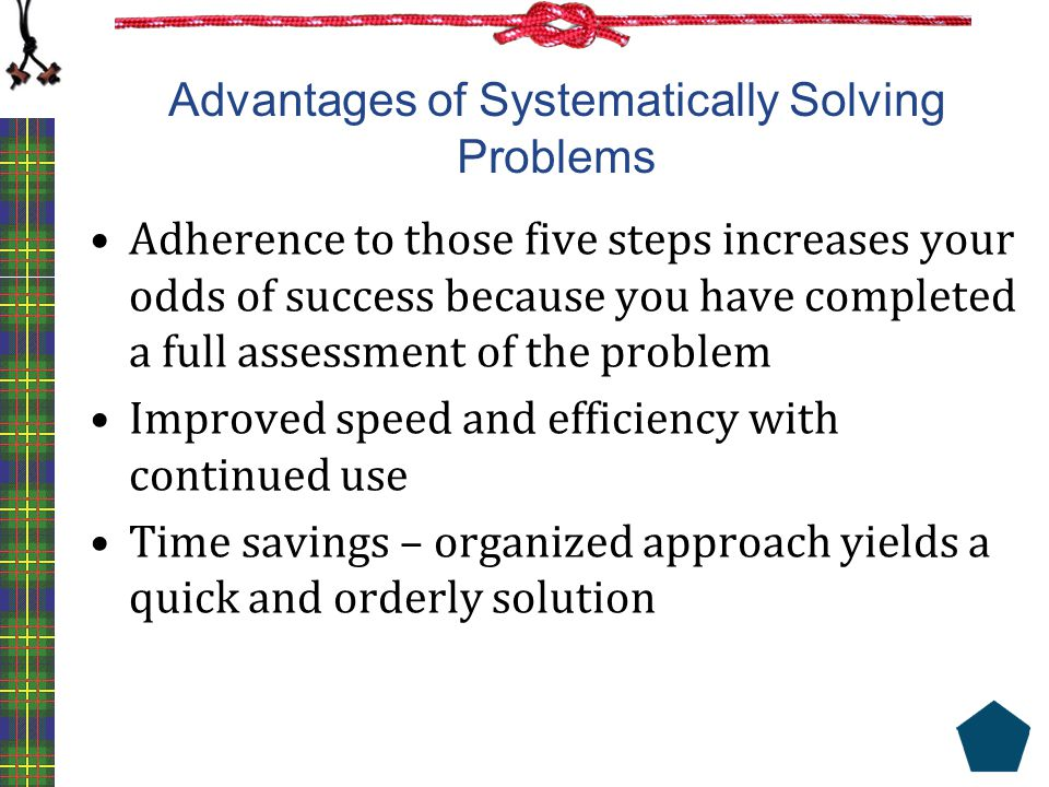 Advantages of Systematically Solving Problems