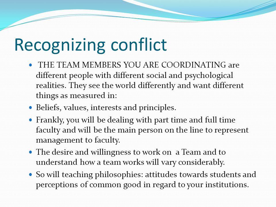 Recognizing conflict