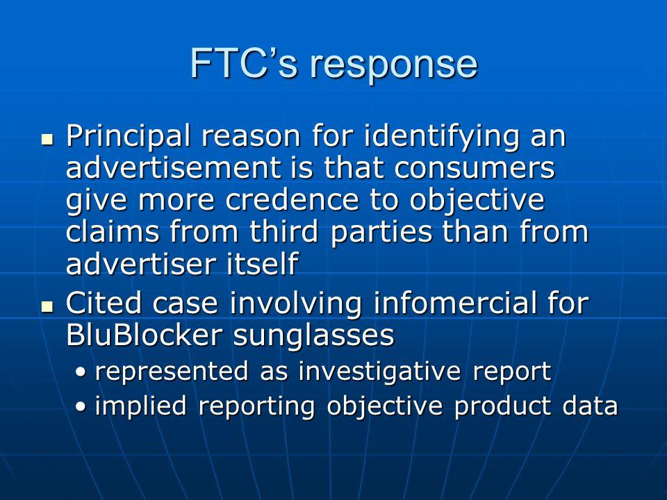 FTC's response