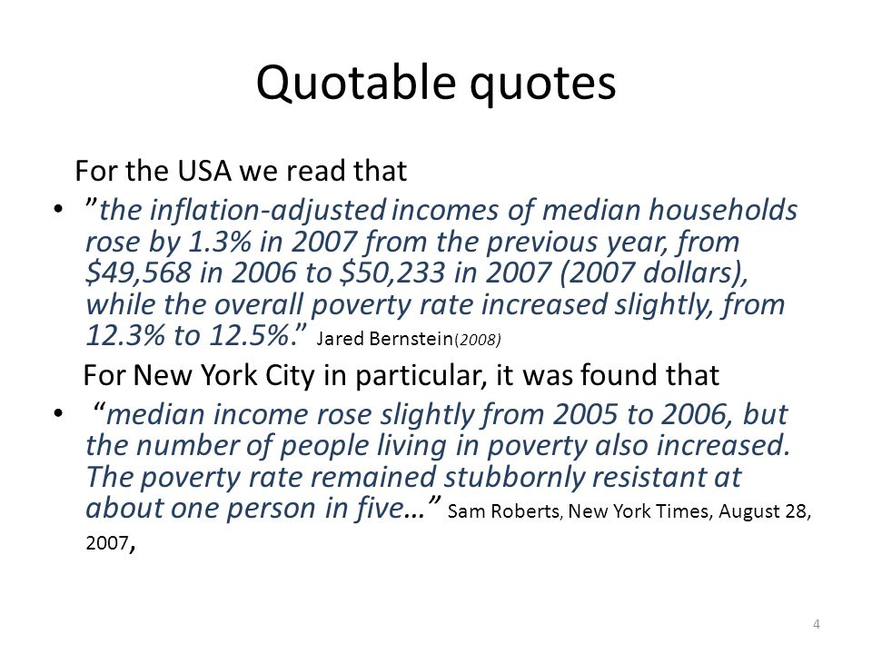 Quotable quotes For the USA we read that