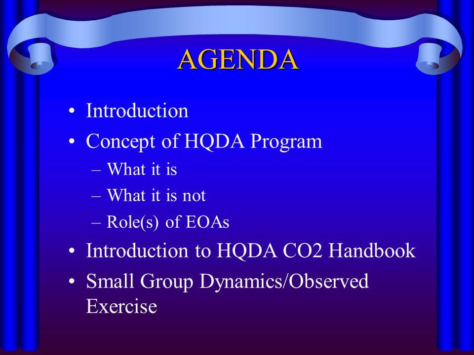 AGENDA Introduction Concept of HQDA Program