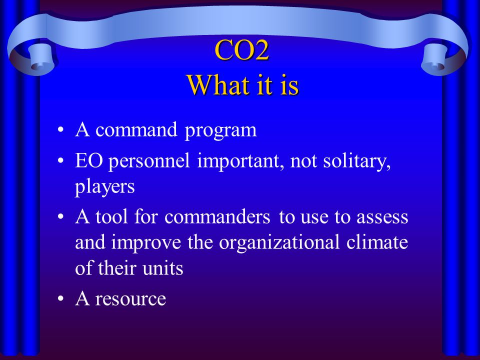 CO2 What it is A command program
