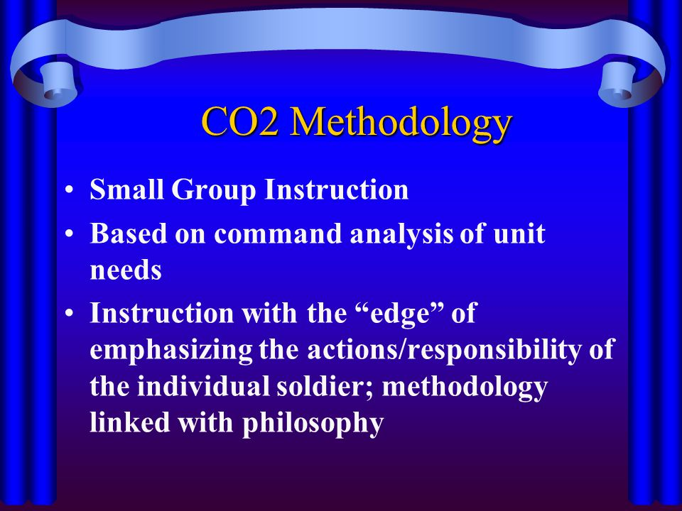 CO2 Methodology Small Group Instruction