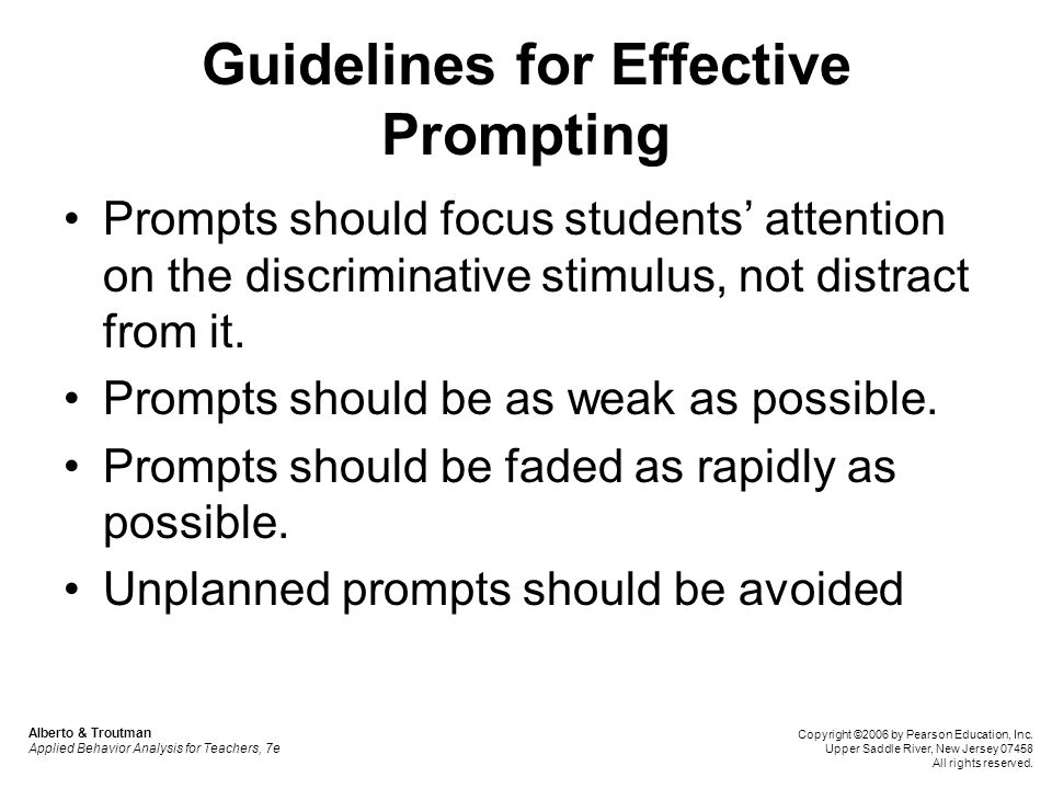 Guidelines for Effective Prompting