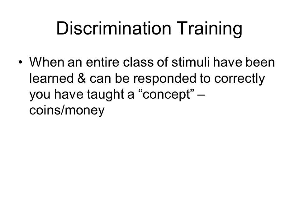 Discrimination Training
