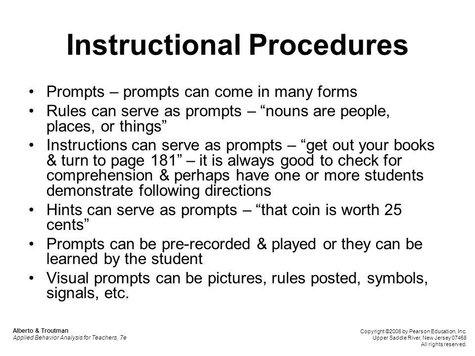 Instructional Procedures