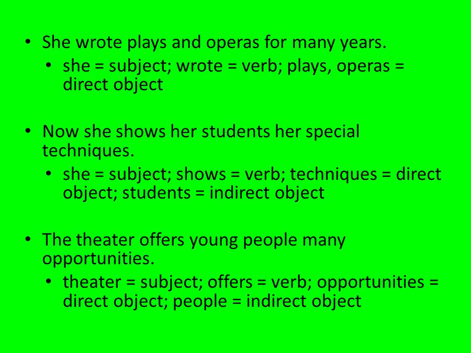 She wrote plays and operas for many years.