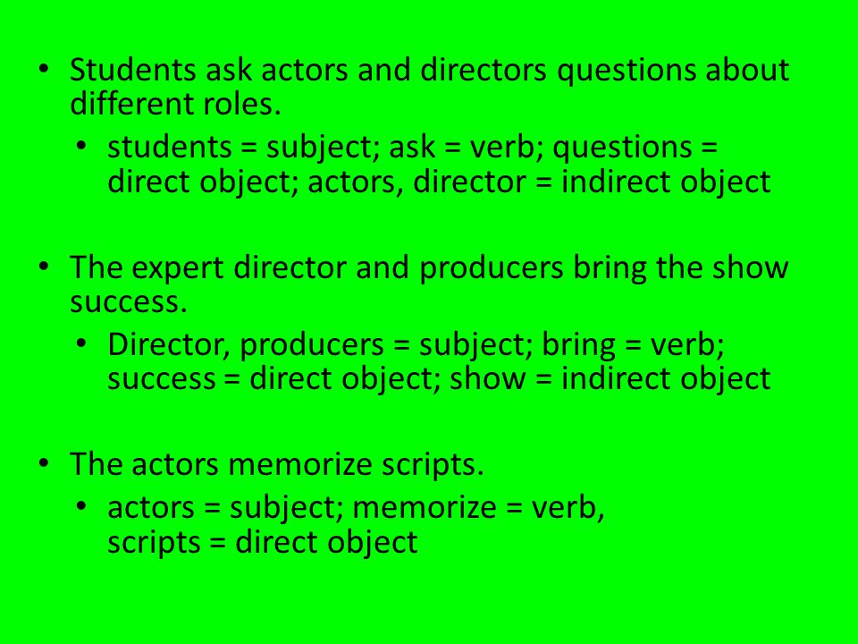 Students ask actors and directors questions about different roles.
