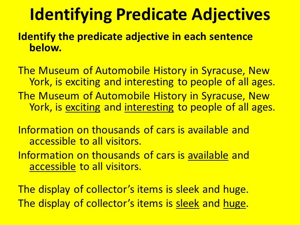 Identifying Predicate Adjectives