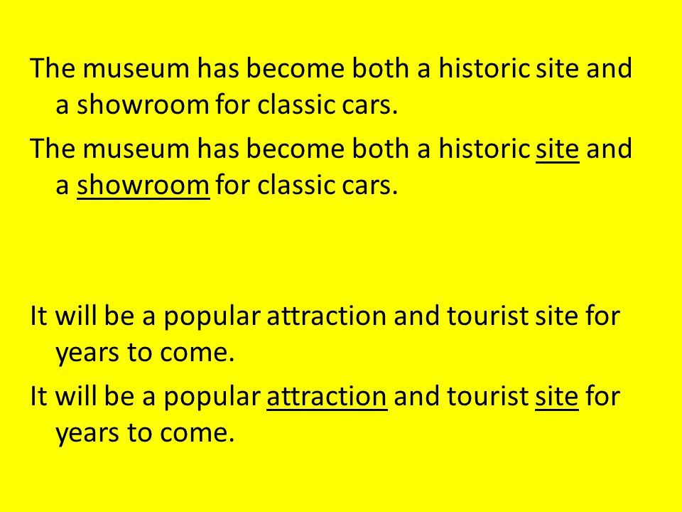 The museum has become both a historic site and a showroom for classic cars.
