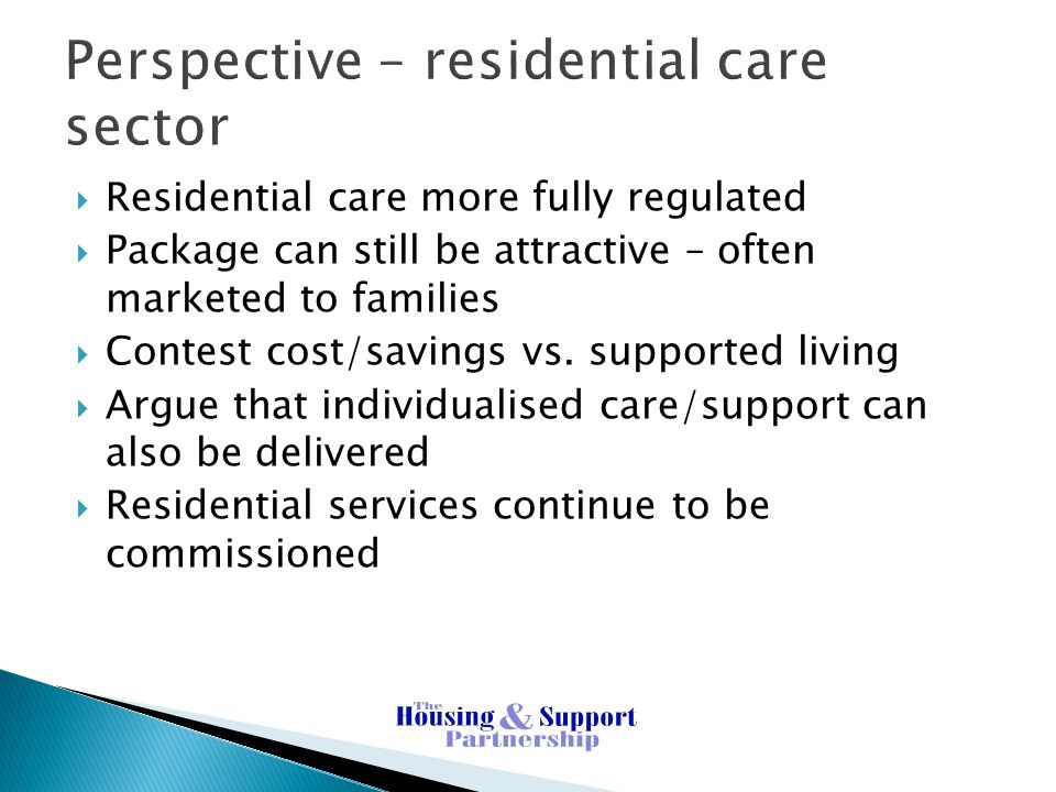 Perspective – residential care sector