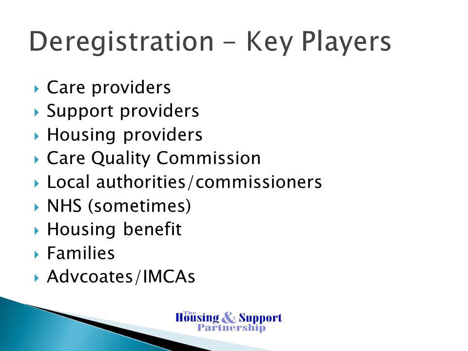 Deregistration - Key Players